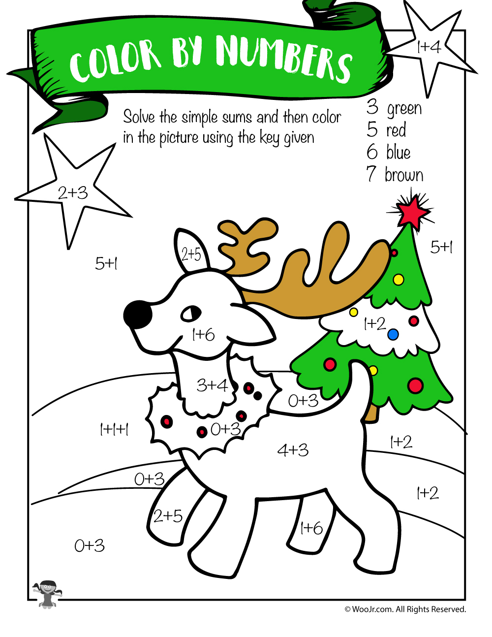 Free Printable Christmas Math Worksheets: Pre K, 1St Grade & 2Nd | Free Printable Christmas Math Worksheets For 2Nd Grade