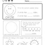 Free Printable Circle Worksheet For Kindergarten | Circle Printable Worksheets