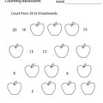 Free Printable Counting Backwards Worksheet For First Grade   Free | Free Printable Worksheets For 1St Grade