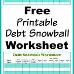 Free Printable Debt Snowball Worksheet | Living Frugally   Money | Free Printable Debt Snowball Worksheet