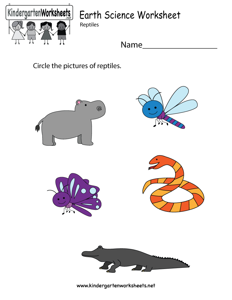 Free Printable Earth Science Worksheet For Kindergarten | Kindergarten Science Worksheets Printable