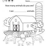 Free Printable Educational Coloring Worksheet For Kindergarten | Free Printable School Worksheets