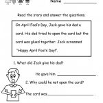 Free Printable English Reading Worksheets For Kindergarten | Free | Beginning Reading Worksheets Printable