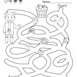 Free Printable Fall Activity Maze Worksheet For Kindergarten   Free | Free Printable Fall Worksheets Kindergarten