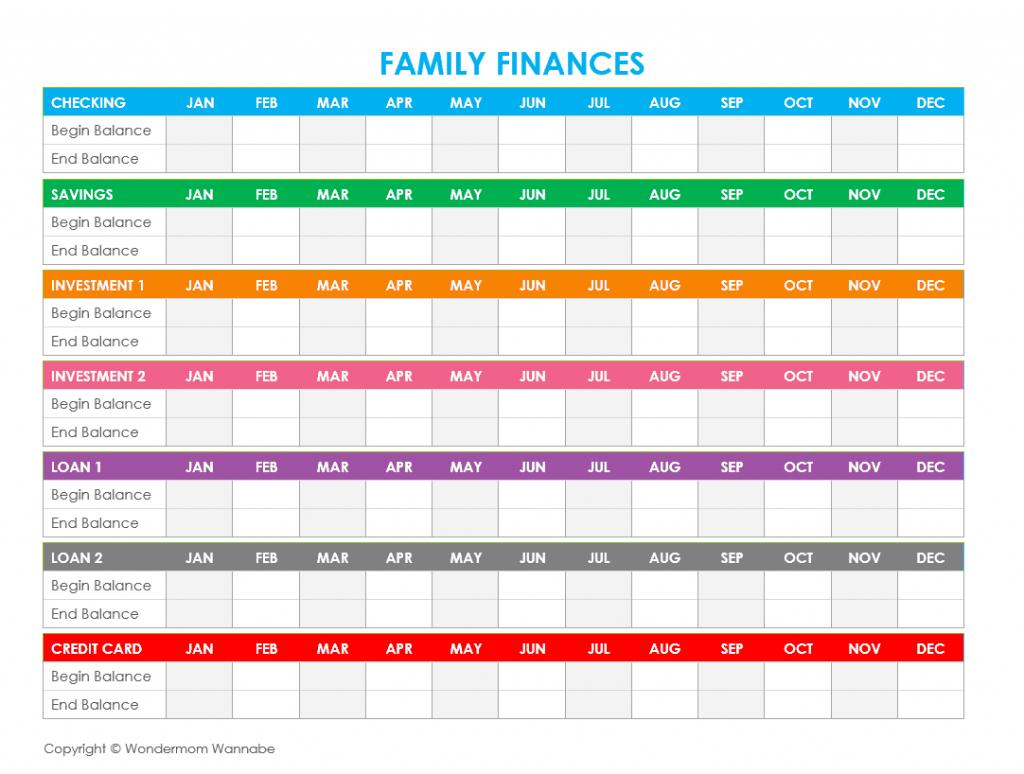 Free Printable Family Budget Worksheets | Printable Budget Worksheet