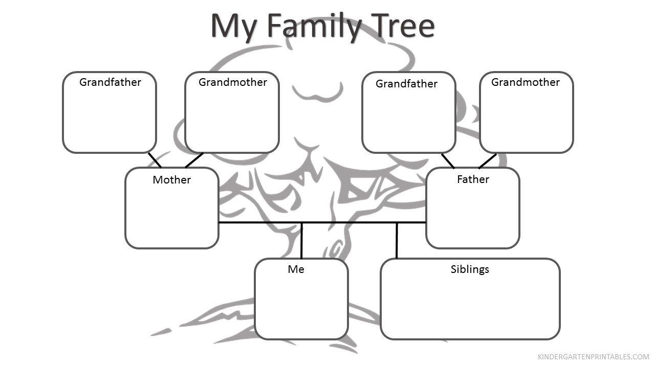 Free Printable Family Tree Worksheet Free Family Tree Worksheet - My | Family Tree Worksheet Printable