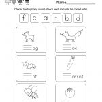 Free Printable Free Phonics Worksheet For Kindergarten | Phonics Worksheets For Adults Printable