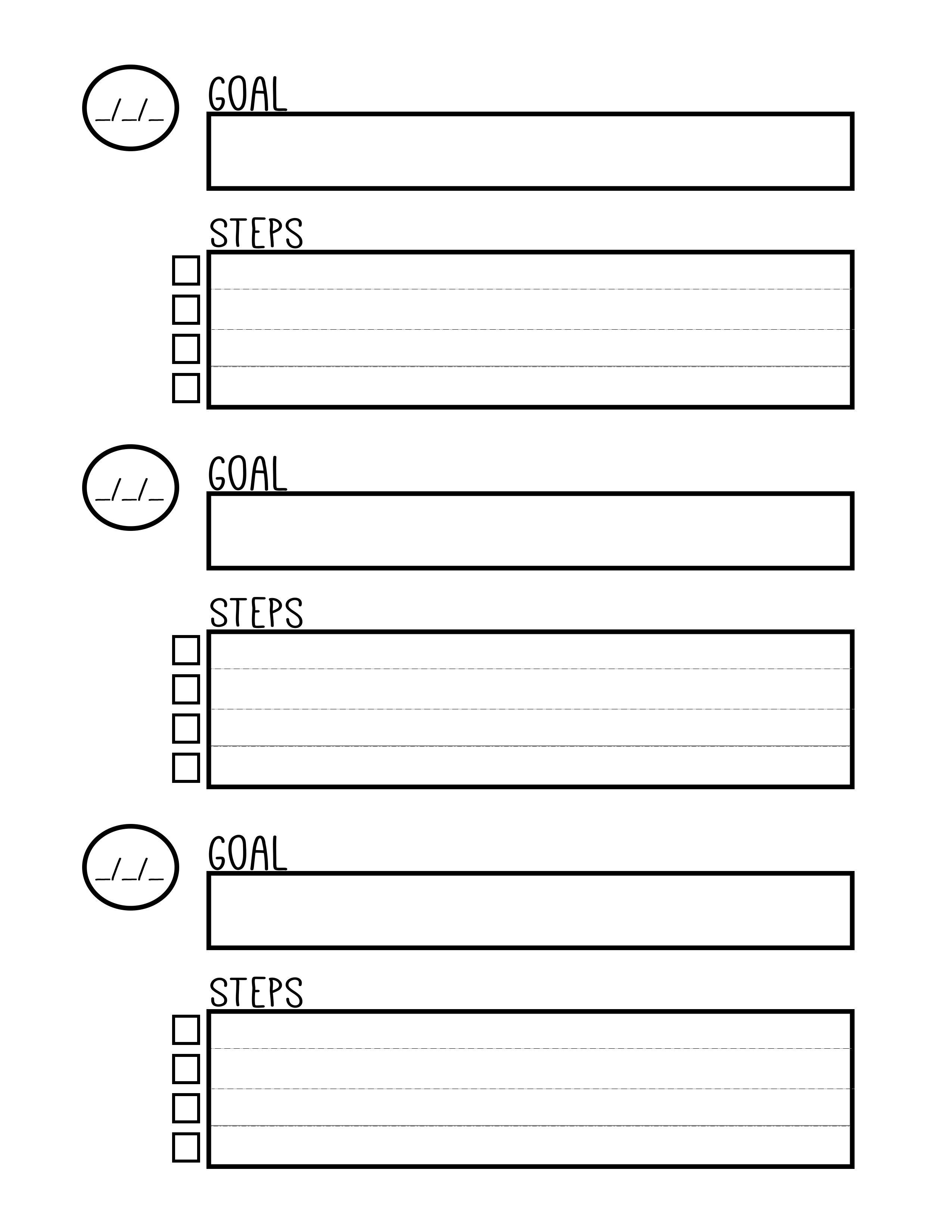 Free Printable Goal Setting Worksheet - Planner … | Education | Printable Goal Setting Worksheet For High School Students