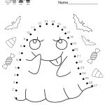 Free Printable Halloween Connect The Dots Worksheet For Kindergarten | Free Printable Halloween Worksheets