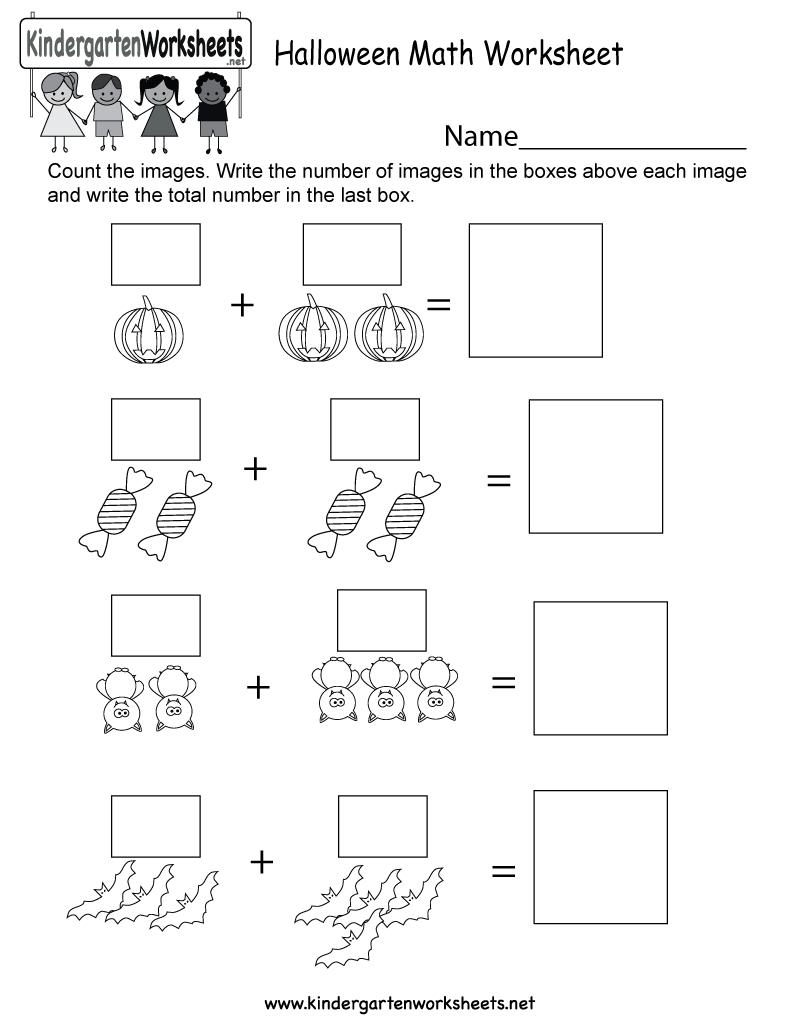 Free Printable Halloween Math Worksheet For Kindergarten | Printable Halloween Math Worksheets