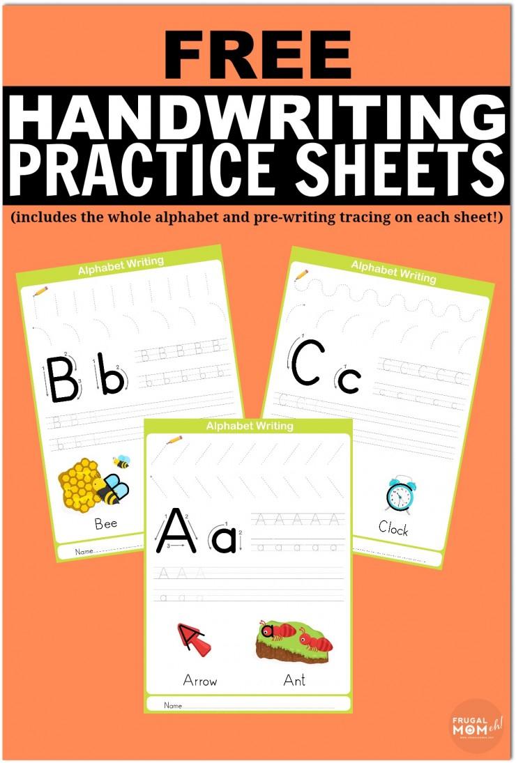 Free Printable Handwriting Worksheets Including Pre-Writing Practice | Free Printable Handwriting Worksheets