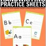 Free Printable Handwriting Worksheets Including Pre Writing Practice | Free Printable Worksheets Handwriting Practice