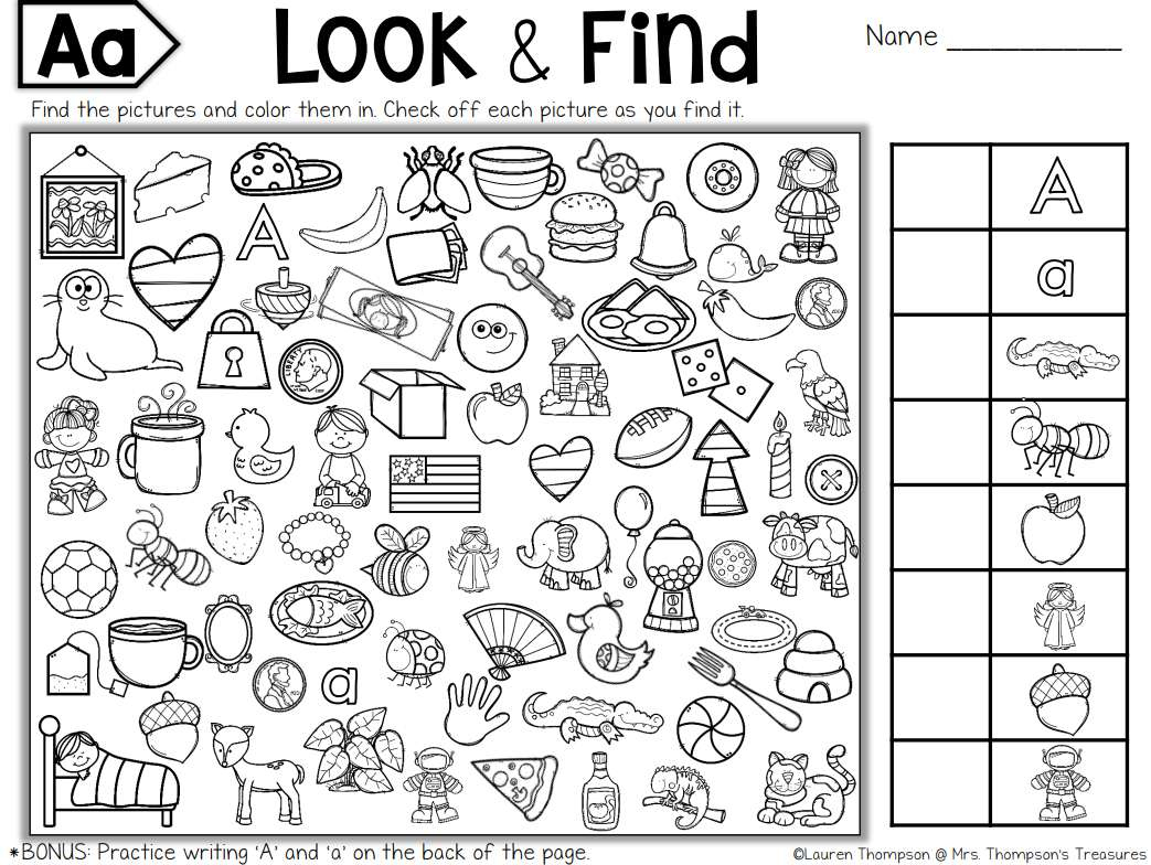 Free, Printable Hidden Picture Puzzles For Kids | Seek And Find Printable Worksheets