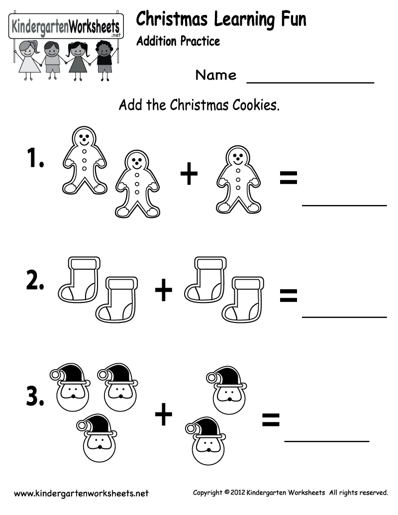 Free Printable Holiday Worksheets | Free Christmas Cookies Worksheet | Free Printable Christmas Kindergarten Worksheets