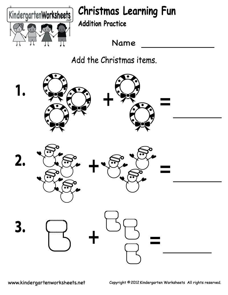 Free Printable Holiday Worksheets | Free Printable Kindergarten | Free Printable Christmas Kindergarten Worksheets