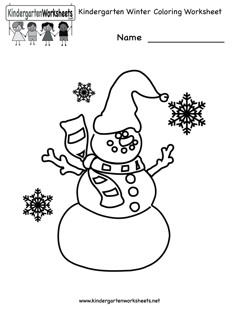 Free Printable Holiday Worksheets | Kindergarten Winter Coloring | Free Printable Winter Preschool Worksheets