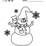 Free Printable Holiday Worksheets   Kindergarten Winter Coloring   Winter Holidays Worksheets Printables