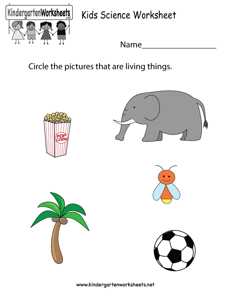 Free Printable Kids Science Worksheet For Kindergarten | Free Printable Worksheets For Kids Science