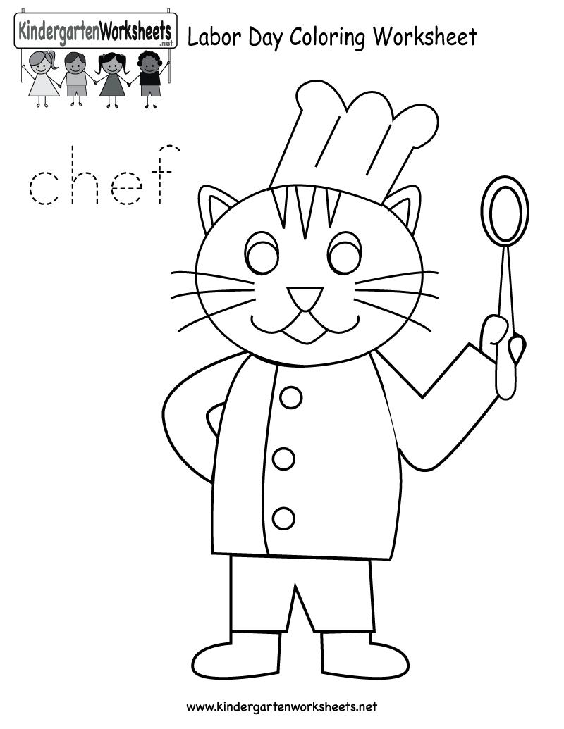 Free Printable Labor Day Coloring Worksheet For Kindergarten | Free Printable Labor Day Worksheets