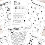 Free Printable Letter E Worksheets   Alphabet Worksheets Series | Printable Letter E Worksheets For Preschool