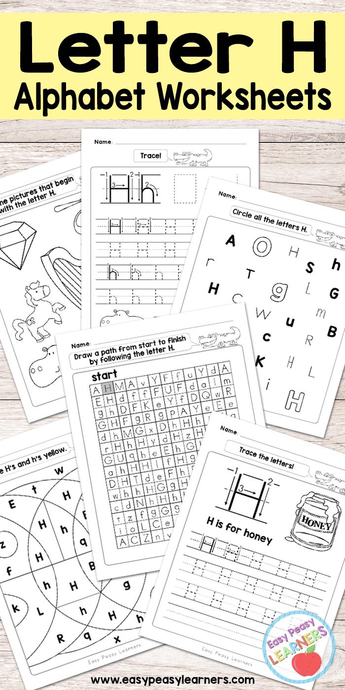 Free Printable Letter H Worksheets - Alphabet Worksheets Series   Free Printable Letter Recognition Worksheets