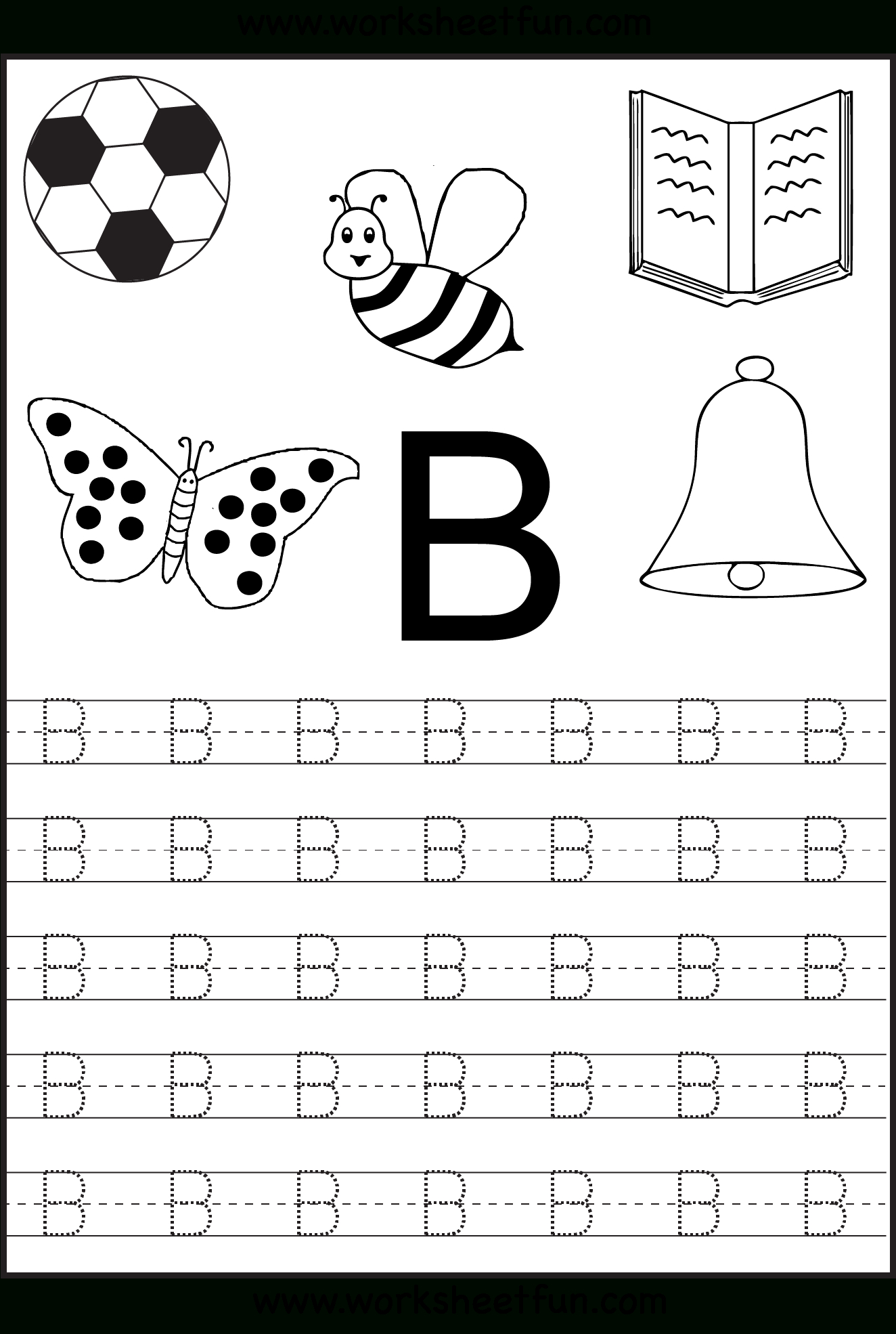 Free Printable Letter Tracing Worksheets For Kindergarten – 26 | Printable Abc Letters Worksheets