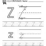 Free Printable Letter Z Alphabet Learning Worksheet For Preschool | Letter Z Worksheets Free Printable
