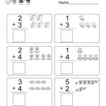 Free Printable Math Addition Worksheet For Kindergarten | Printable Math Addition Worksheets For Kindergarten