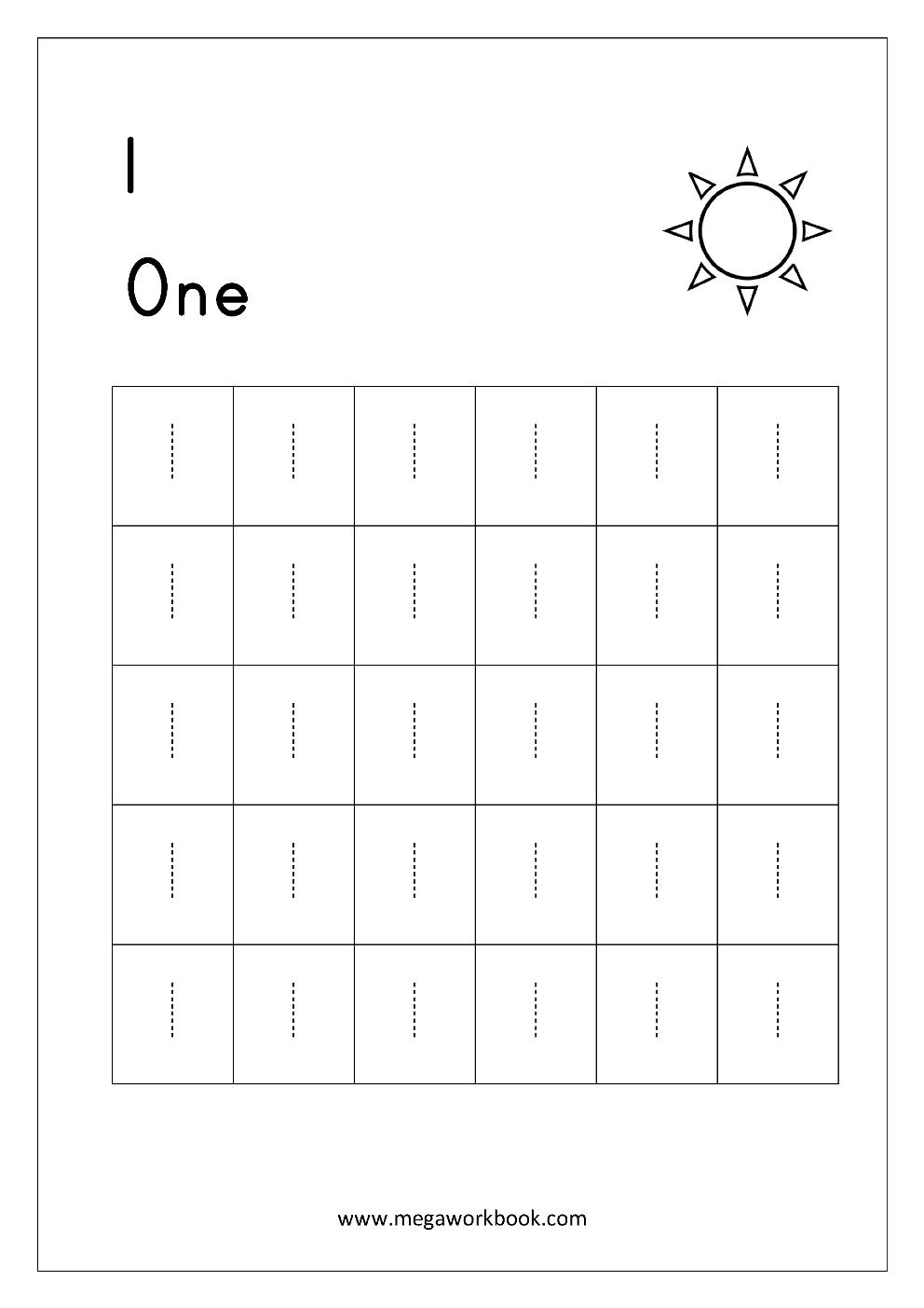 Free Printable Number Tracing And Writing (1-10) Worksheets - Number | Number One Worksheet Preschool Printable Activities