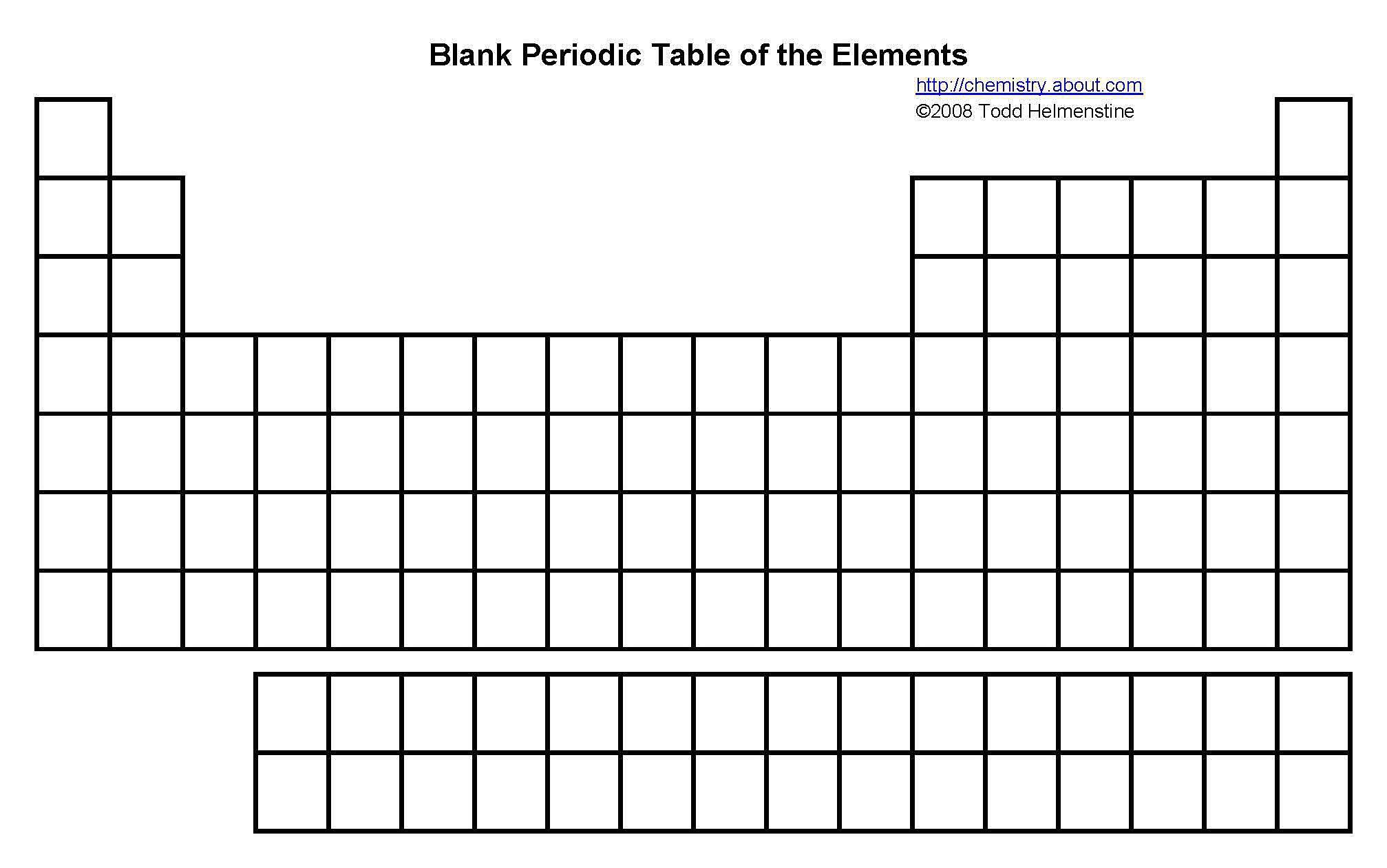 Free Printable Periodic Tables (Pdf) | Free Printable Periodic Table Worksheets