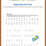 Free Printable Secret Code Word Puzzle For Kids. This Puzzle Has A | Printable Secret Code Worksheets