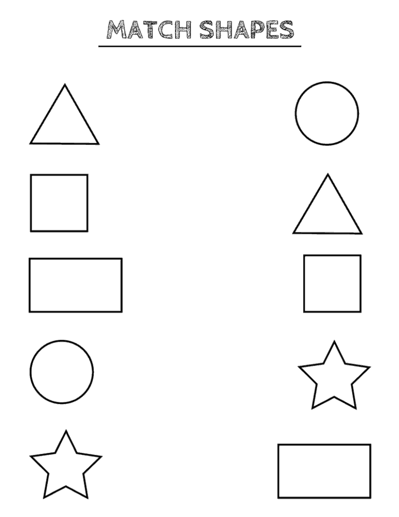 Free Printable Shapes Worksheets For Toddlers And Preschoolers | Free Printable Toddler Learning Worksheets