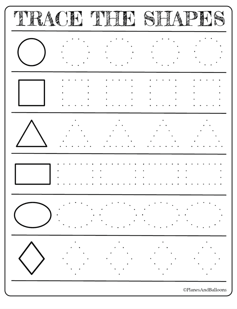 Free Printable Shapes Worksheets For Toddlers And Preschoolers | Free Printable Tracing Worksheets