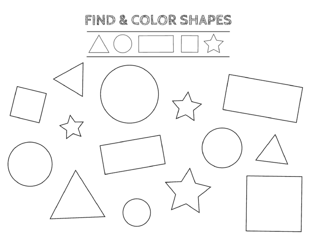 Free Printable Shapes Worksheets For Toddlers And Preschoolers | Printable Shapes Worksheets