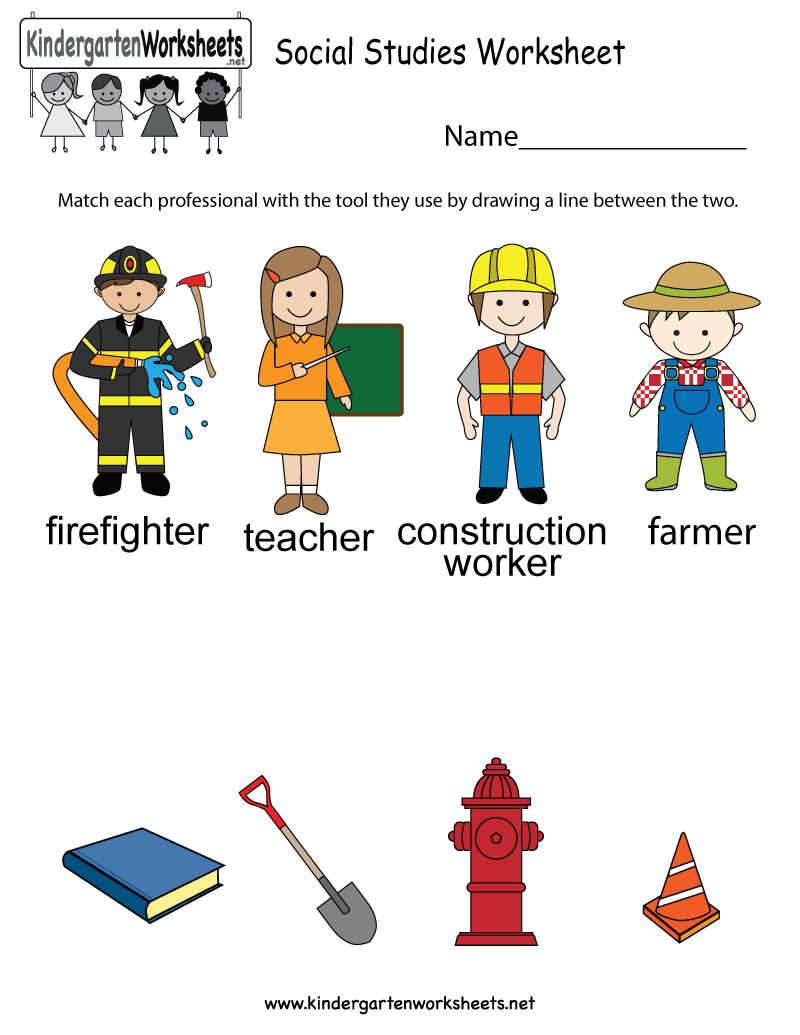 Free Printable Social Studies Worksheet For Kindergarten   Elementary Social Studies Worksheets Printable