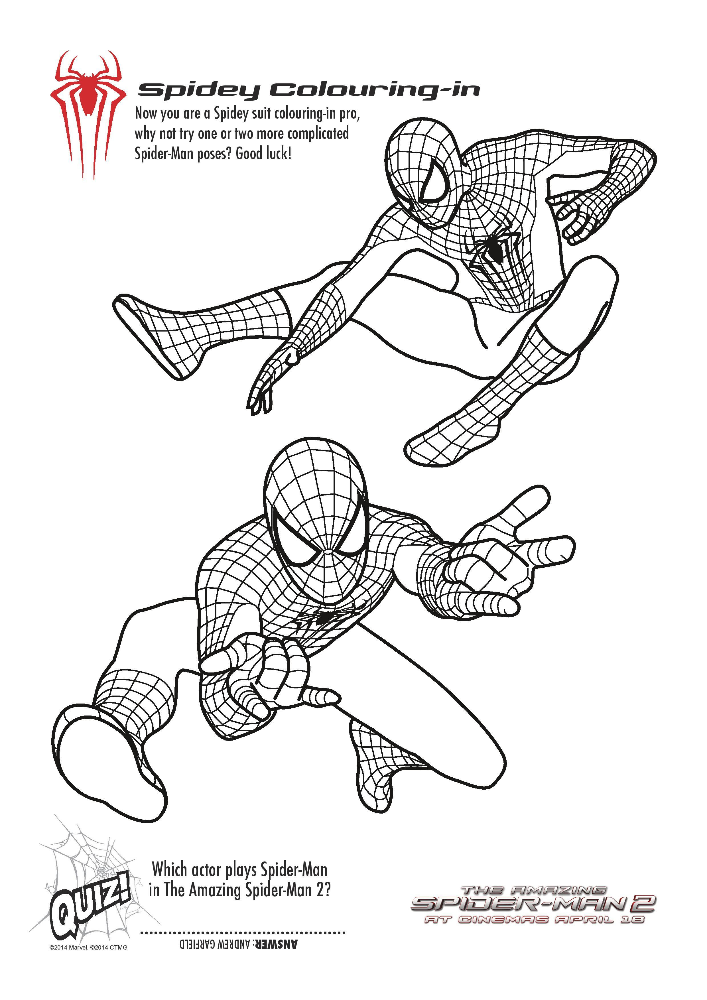 Free Printable Spiderman Colouring Pages And Activity Sheets - In | Spiderman Worksheets Free Printables