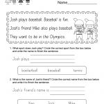 Free Printable Summer Olympics Reading Worksheet For Kindergarten | Olympic Printable Worksheets