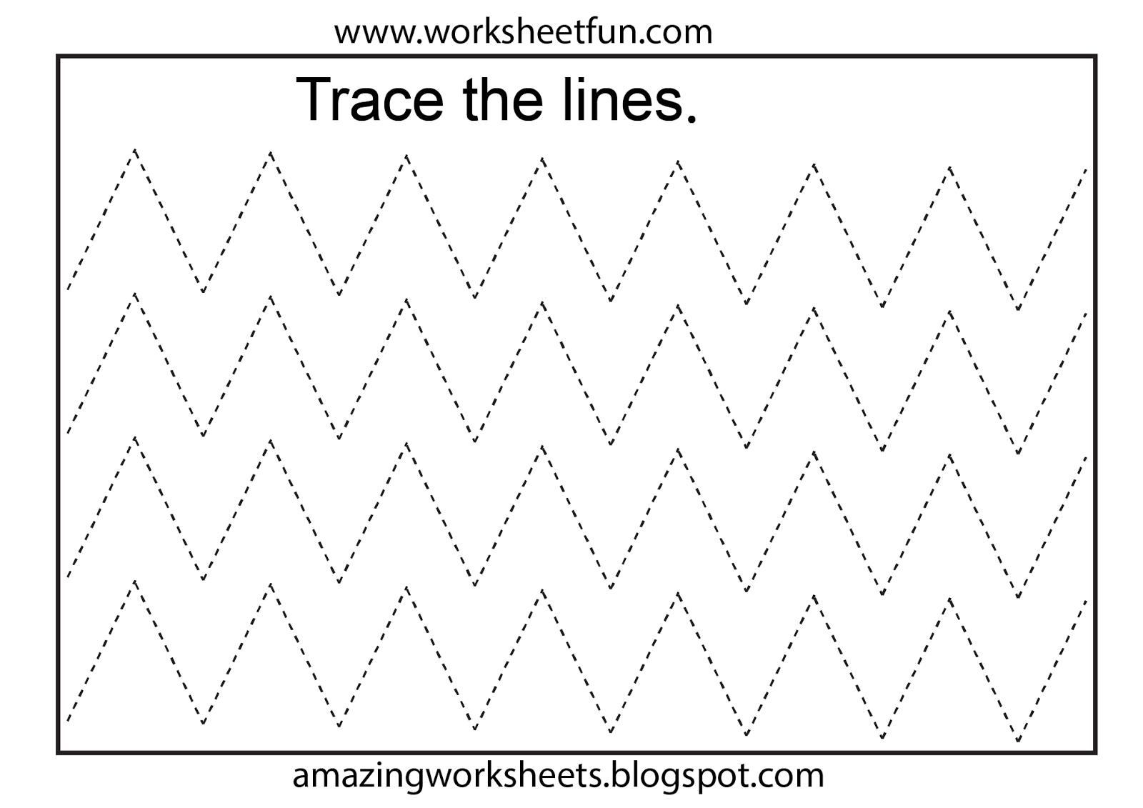 Free Printable Tracing Worksheets Preschool | Preschool Worksheets | Free Printable Fine Motor Skills Worksheets