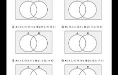 Free, Printable Venn Diagrams Worksheet – These Are Good For | Free Printable Venn Diagram Math Worksheets