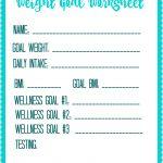 Free Printable Weight Loss Goal Worksheet   Debt Free Spending | Free Printable Calorie Counter Worksheet