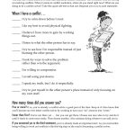 Free Printable Worksheet: When I Have A Conflict. A Quick Self Test | Free Printable Worksheets For Elementary Students