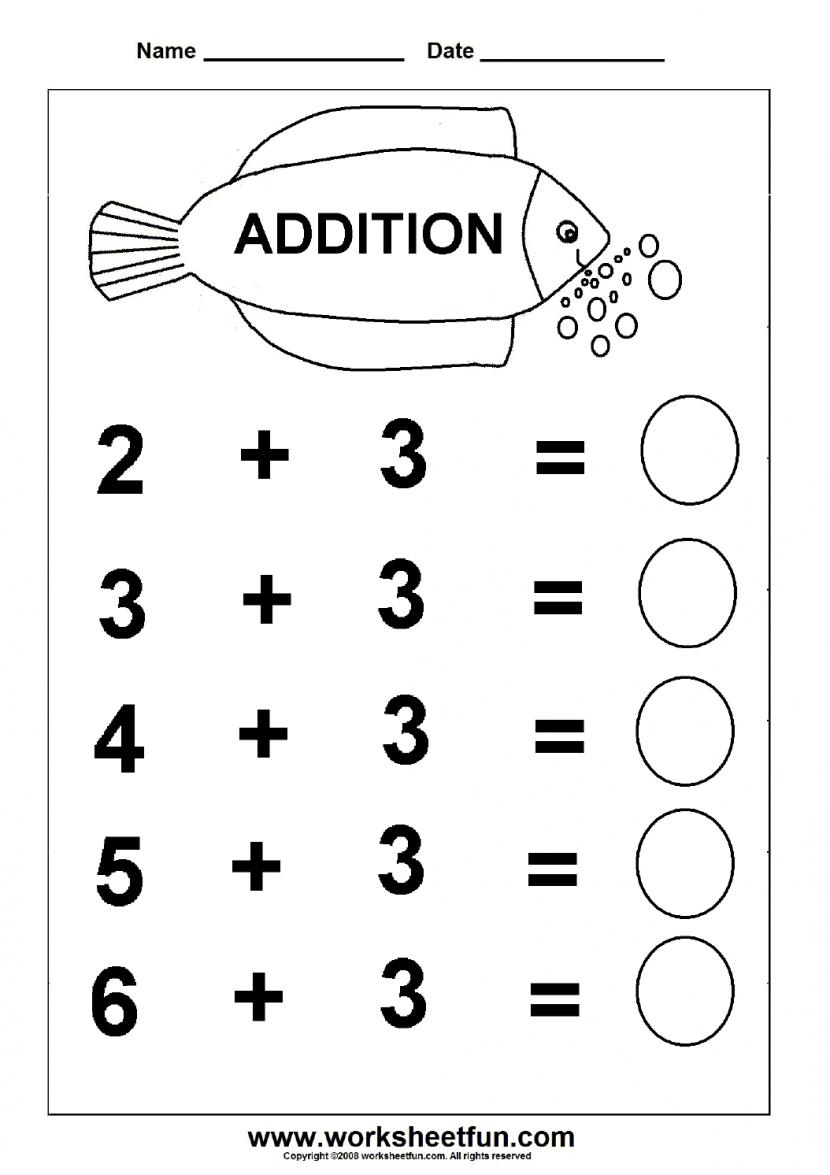 Free Printable Worksheets For Kindergarten – With Activity Sheets | Free Printable Worksheets For Kids