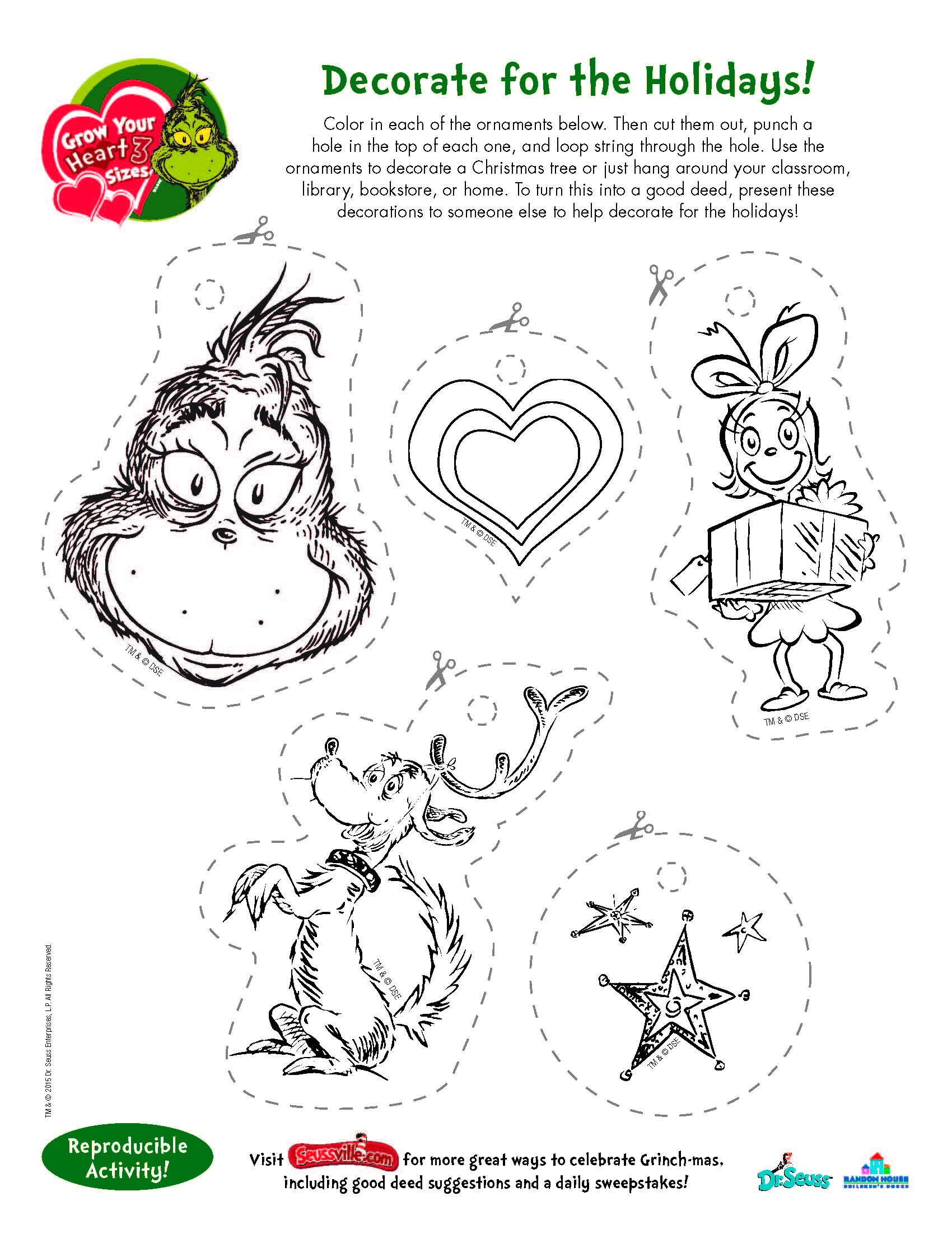 Free Printables And Wonderful Activities From None Other Than The | Free Printable Grinch Worksheets