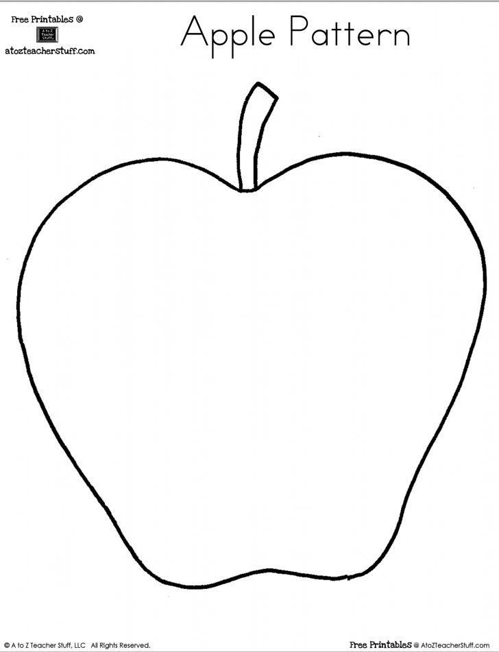 A For Apple Worksheet Printable