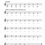 Free Solfege Worksheets For Classroom Instruction | Print | Music | Free Printable Music Theory Worksheets