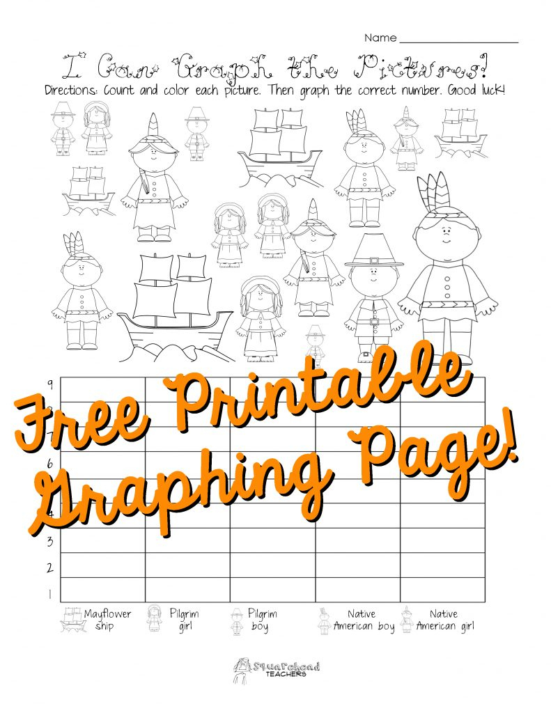 Free Thanksgiving Graphing Worksheet (Kindergarten, First Grade | Free Printable Thanksgiving Math Worksheets For 3Rd Grade