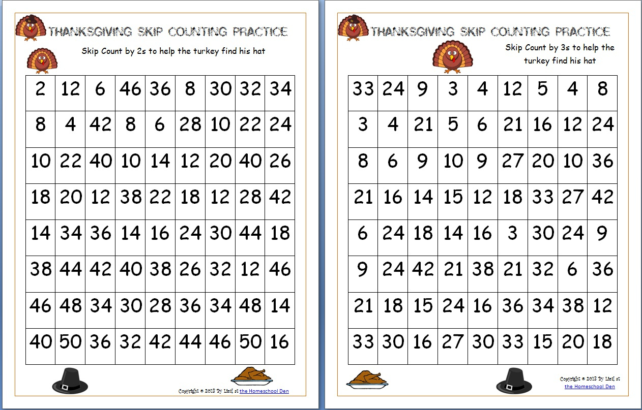 Free Thanksgiving Math Worksheets Archives - Homeschool Den | Printable Thanksgiving Math Worksheets