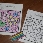 Free Valentines Day Colorsight Words | 123 Homeschool 4 Me | 1St Grade Sight Words Printables Worksheets