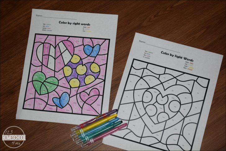 Free Printable Kindergarten Worksheets Color Words