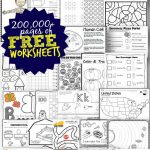 Free Worksheets   200,000+ For Prek 6Th | 123 Homeschool 4 Me | Printable Worksheets Com